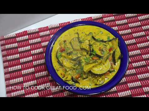 Eggplant Coconut Curry Recipe - Vegan Aubergine Brinjal बैंगन Baingan