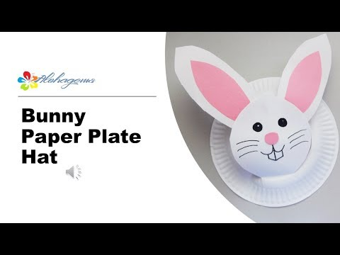 Bunny Paper Plate Hat