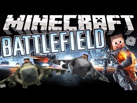 Minecraft: BATTLEFIELD MOD! (Fighter Jets, Helicopters, Tanks, Guns, & MORE!) | Mod Showcase