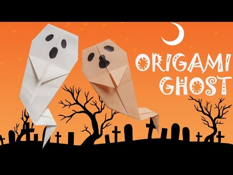 Origami Ghost - Origami Halloween - Origami Easy