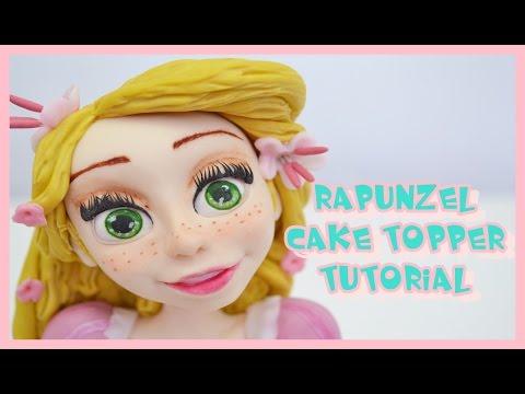 rapunzel cake topper tutorial - principessa in pasta di zucchero torta decorata