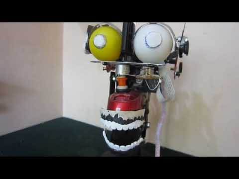 HOME MADE HUMAN ROBOT HEAD