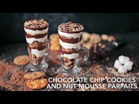Chocolate chip cookies and nut mousse Parfaits [BA Recipes]