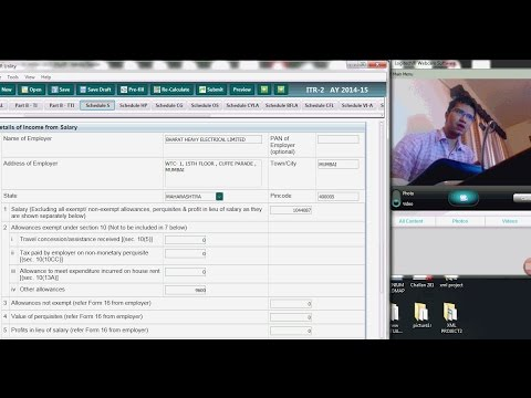 HOW TO SHOW HRA IN TAX RETURN | ITR 1 | ITR 2 | ITR 3