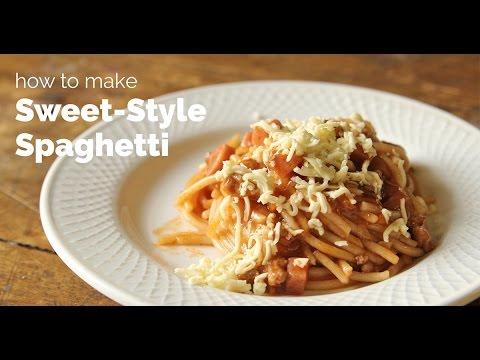 How to Make Sweet-Style Spaghetti   Yummy Ph