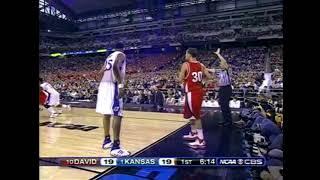 96703f54b4c5 2008 NCAA Basketball Regional Final - Davidson vs Kansas Full Game  Highlights