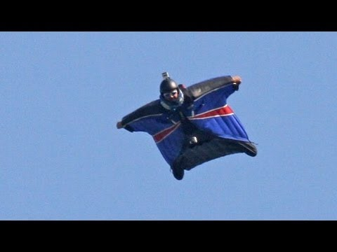 Wingsuit landing without deploying a parachute - Gary Connery