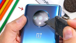 OnePlus 7T Durability Test! - A Big Camera Hole is a Bad idea.