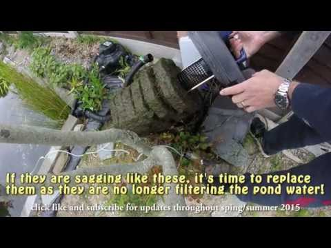 My Koi Pond - How to change filter media on an Oase Filtoclear