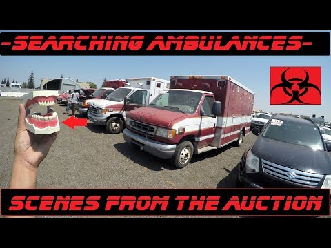 Searching Ambulances! Scenes From The Emergency Vehicle Auction