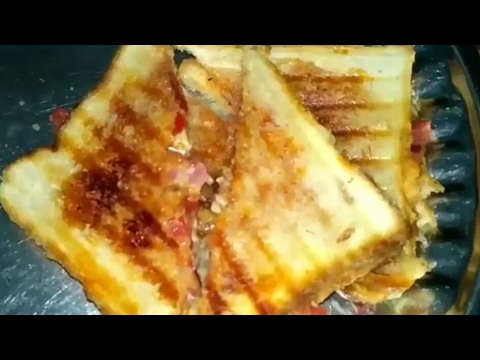 How to make cheese sandwich at home (without oven)