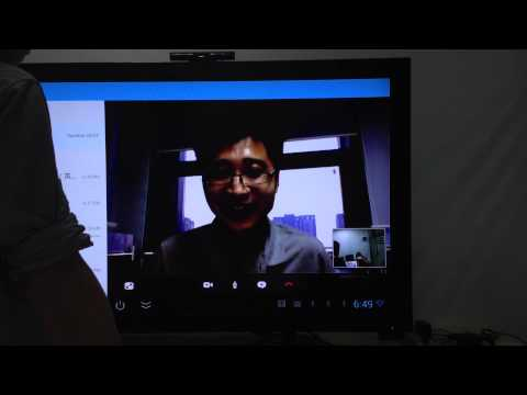Visson Android tv boxes with build in camera --skype video test