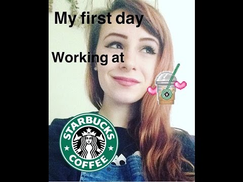 My first day working at STARBUCKS!!||vlog||