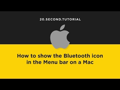 Show Bluetooth in the Menu bar on a Mac | Mac Computer Tutorial #15