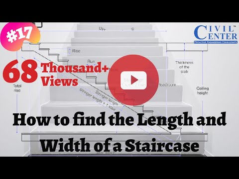How to determine the Length and Width of a Staircase (Hindi Audio)