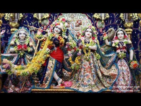 Sri Sri Radha Gopinath Temple Sringar Arati Darshan 30th May 2018 Live from ISKCON Chowpatty,Mumbai