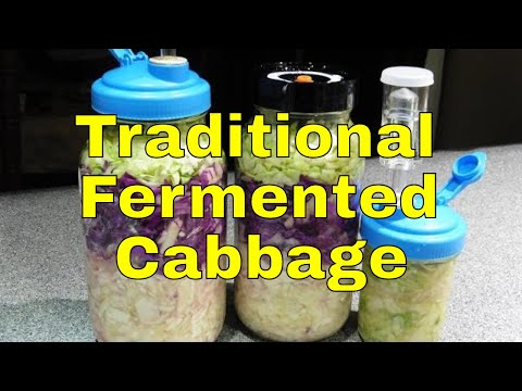 RMM0067 - Fermented Cabbage (The Traditional Method) in Mason Jars