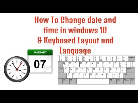 How To Change date and time in windows 10   Change Keyboard Layout and Language