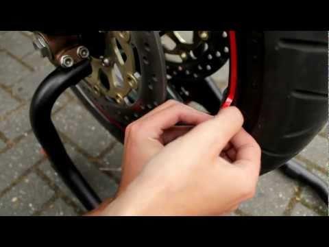 Rimstriping with Applicator Motor Sticker Easy Installation Video | Motorsticker.com