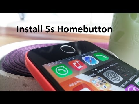 Install the iPhone 5s Homebutton on iPhone 5 /5C (no fingerprint)