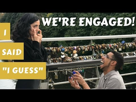 I GUESS WE'RE ENGAGED!! - Our funny proposal story