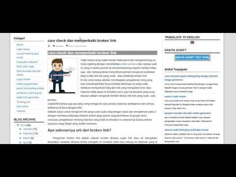cara check dan memperbaiki broken link pada blog