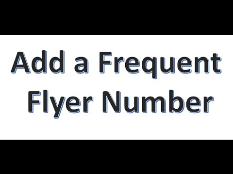 3. How to add a Frequent Flyer Number in Amadeus GDS
