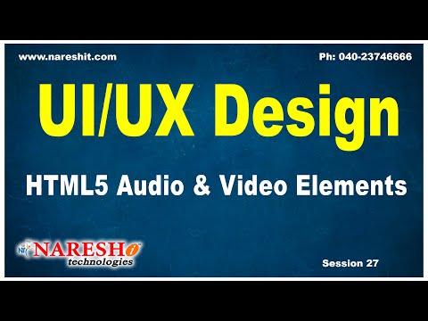 Session:27 | HTML5 Audio & Video Elements | UI/UX Tutorial | by Mr. Naveen Saggam