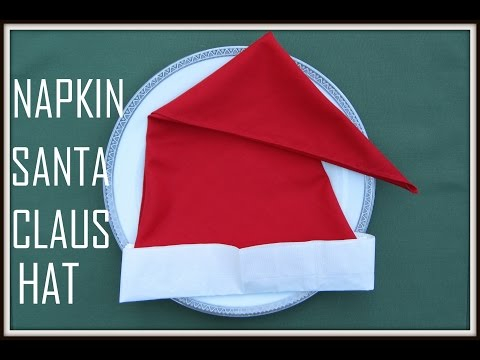Napkin Folding: Santa's Hat (Christmas)