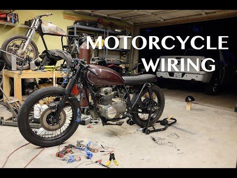 CB550 Cafe Racer / Brat Build : Wiring
