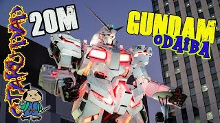 Nerd Life in Japan New Unicorn GUNDAM in Tokyo with OtakuDad 20 Meters tall