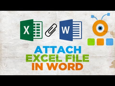 How to Attach Excel File in Word Document