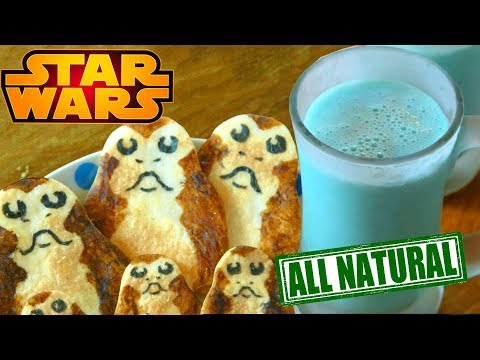 How to Make Real BLUE MILK and Porg Cookies from STAR WARS!!
