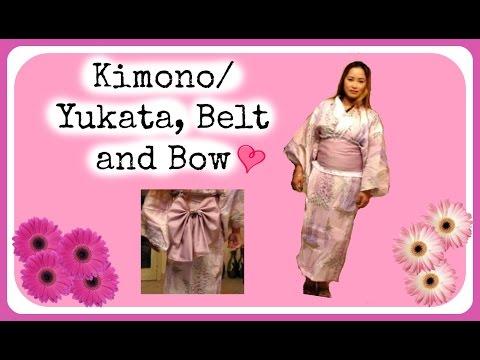 DIY: Kimono/Yukata, Belt and Bow