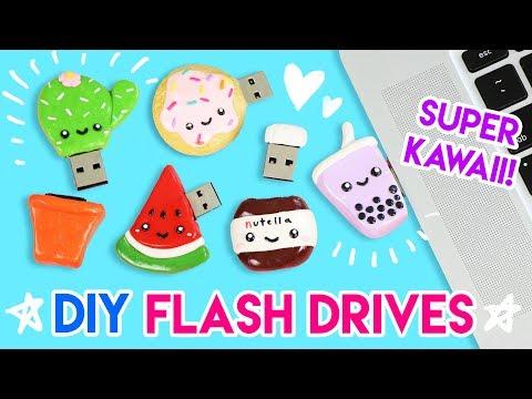 How to Make FIVE DIY Kawaii USB Flash Drives!