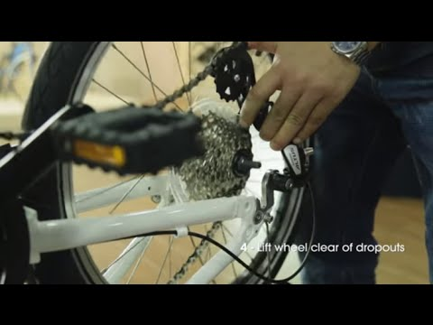 How to Remove and Replace a Rear Wheel on Your DAHON Folding Bike - Vertical Dropouts