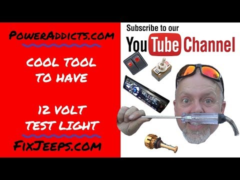 12 volt test light for automotive testing on Tool Tuesday