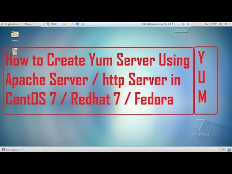 How to configure Yum Server using Apache Server in CentOS 7, Redhat 7