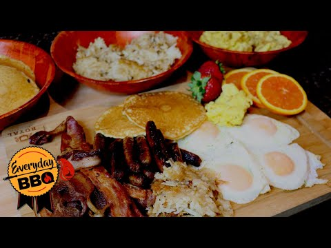 Breakfast FEAST on the Blackstone Griddle - Bacon, Eggs, Sausage, Pancakes, Hash Browns Everyday BBQ