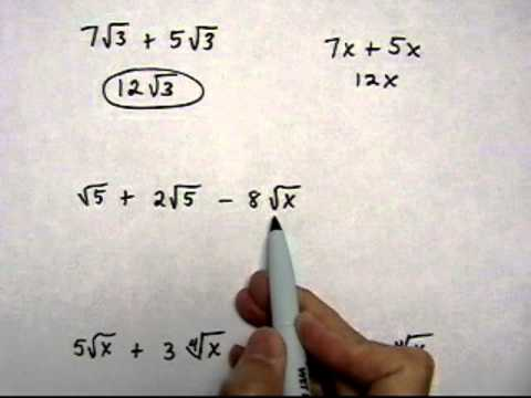 add or subtract radical expressions, no simplifying - (cr).mov