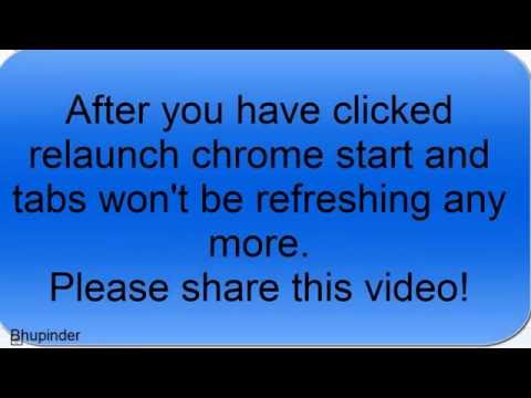 how to stop page from refreshing chrome