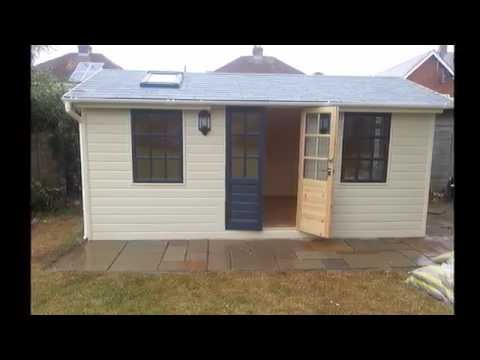 Luxury Garden Shed, Studio, Office, Summer House - Fully Insulated  3 m x 5 m