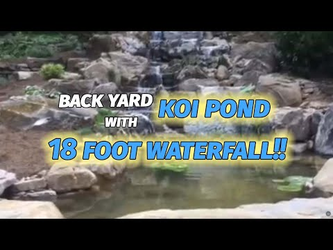 How to install a back yard Koi pond with beautiful 18 foot waterfall