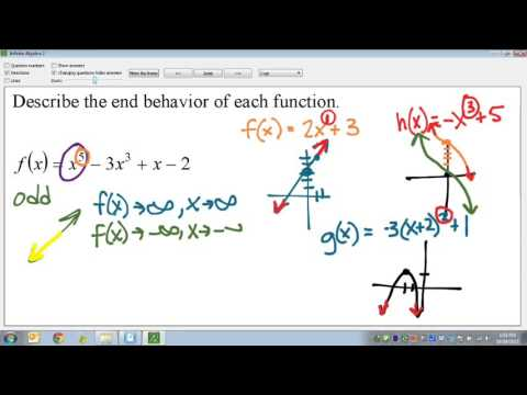 Common Core Math: Polynomial Function End Behavior Even Odd