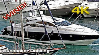 Sunseeker Predator Wind Docking (with problems) 2020