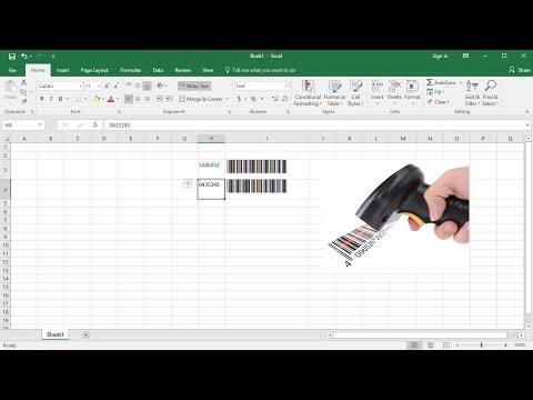 How to create barcode in Excel using Barcode Font - Work with barcode scanner