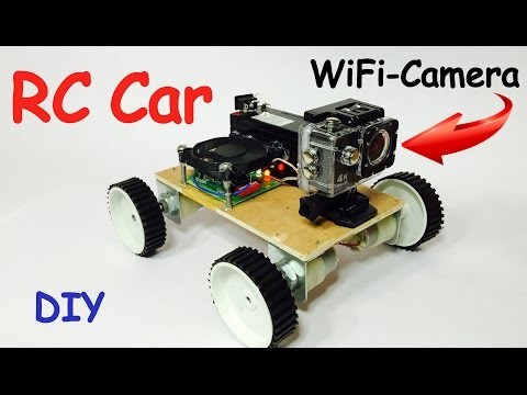 How to Make Smart RC CAR with Wireless Camera at Home