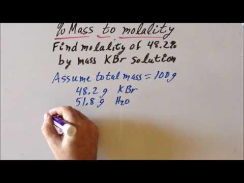 Percent mass (%) to molality (𝘮) problem