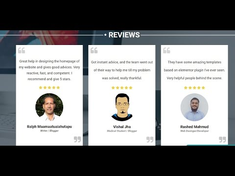How to add stars in review design in Elementor  Page Builder for Wordpress