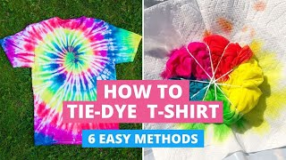 How to Tie-Dye T-Shirts: 6 Easy Methods DIY